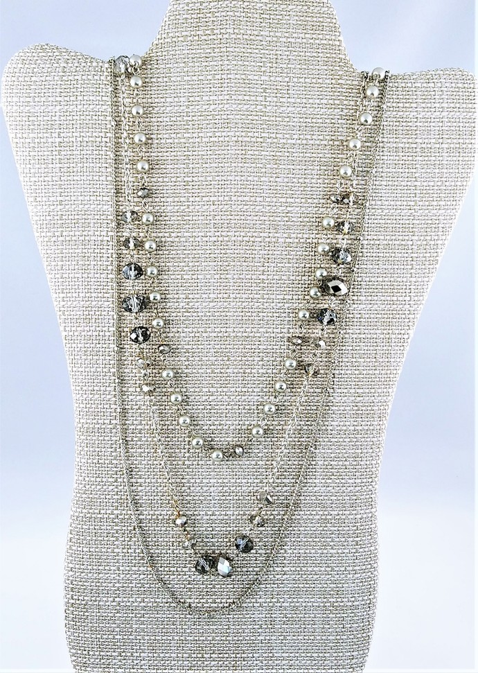"32"" Handmade Multi Strand Chain Necklace"