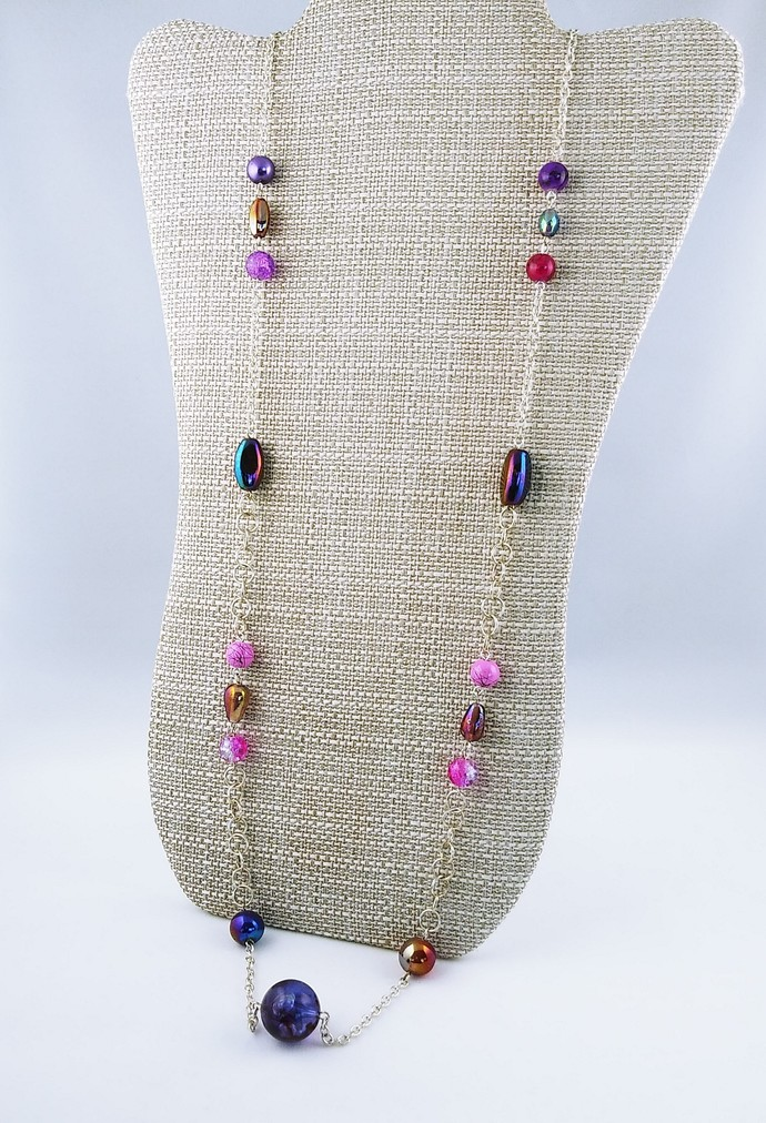 "48"" Beaded Chain Necklace"