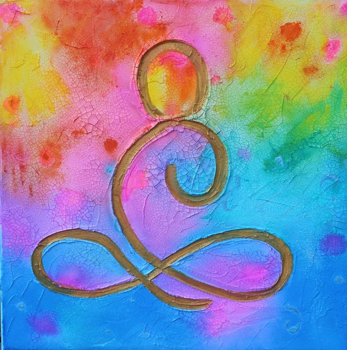 The Mystical you Abstract art Original Painting by Rebecca Beal
