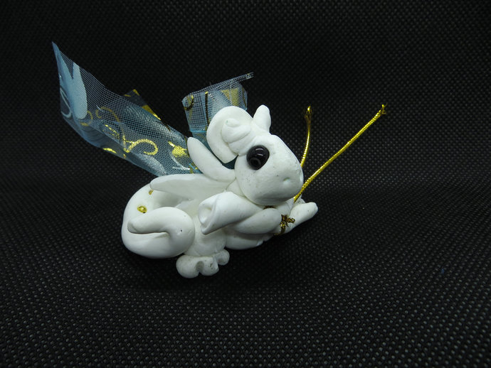 Clay white princess baby dragon