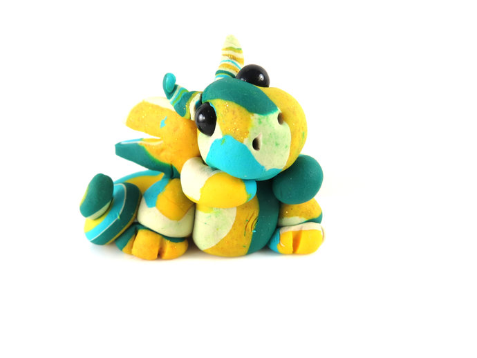 Clay multi color baby dragon