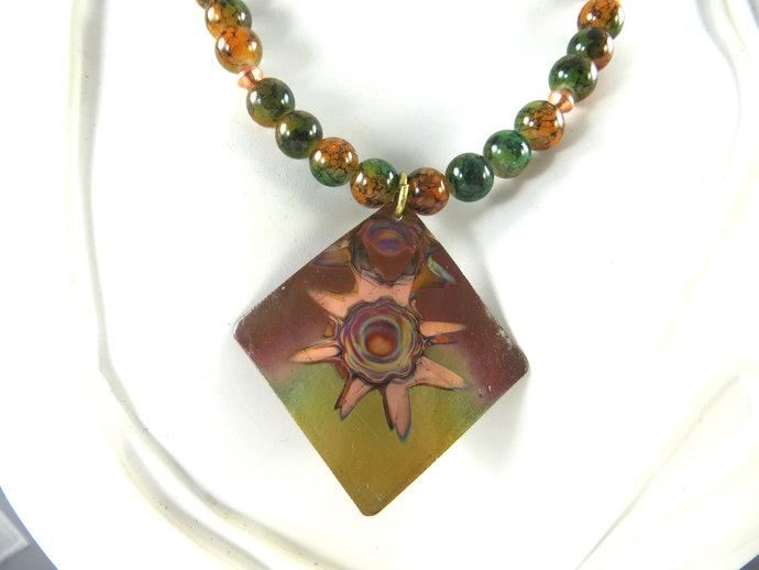 Clearance - Copper sunburst necklace