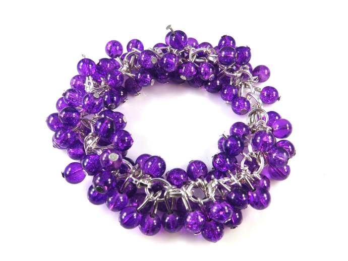Purple cha cha bracelet