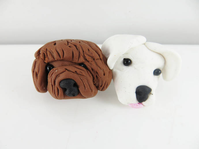 Clearance - Two dogs barrette