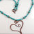 Wire wrapped copper heart necklace