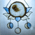 """""""Lotus Moon,"""" Stained Glass Talisman with White Geode"""