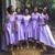 Beautiful Lavender Satin High Low Bridesmaid Dress, Lovely bridesmaid Dress 2020