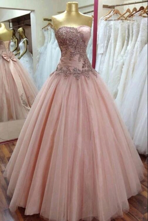 Sexy Tulle Prom Dress, Sleeveless Beaded Tulle Prom Dress, Long Prom Dresses,