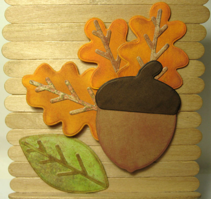 5pc Acorn and Leaf Leaves Cutting Die Set