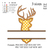 Set of 20 Deers embroidery design,Set of 20 Deers embroidery pattern No 693... 3
