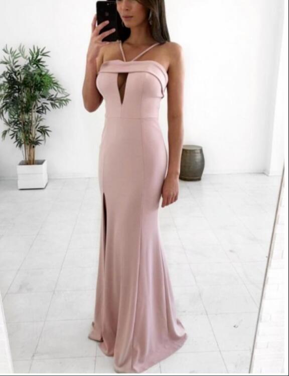 Mermaid Spaghetti Straps Floor-Length Prom Dress