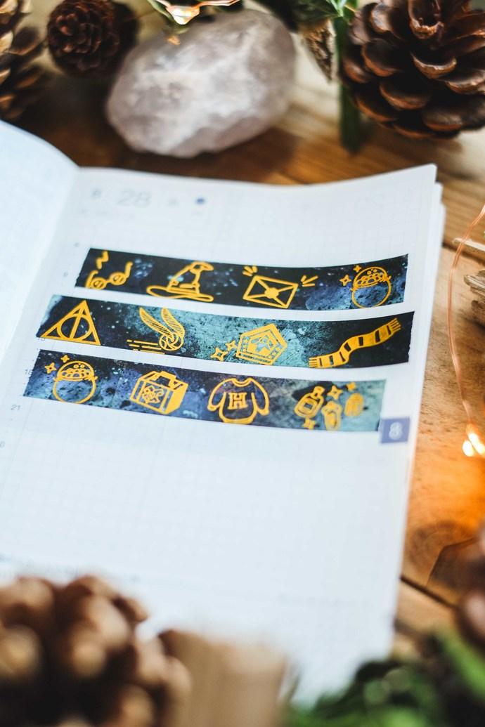 London Gifties original design washi tape - Wizard Items - 1.5cm wide gold foil