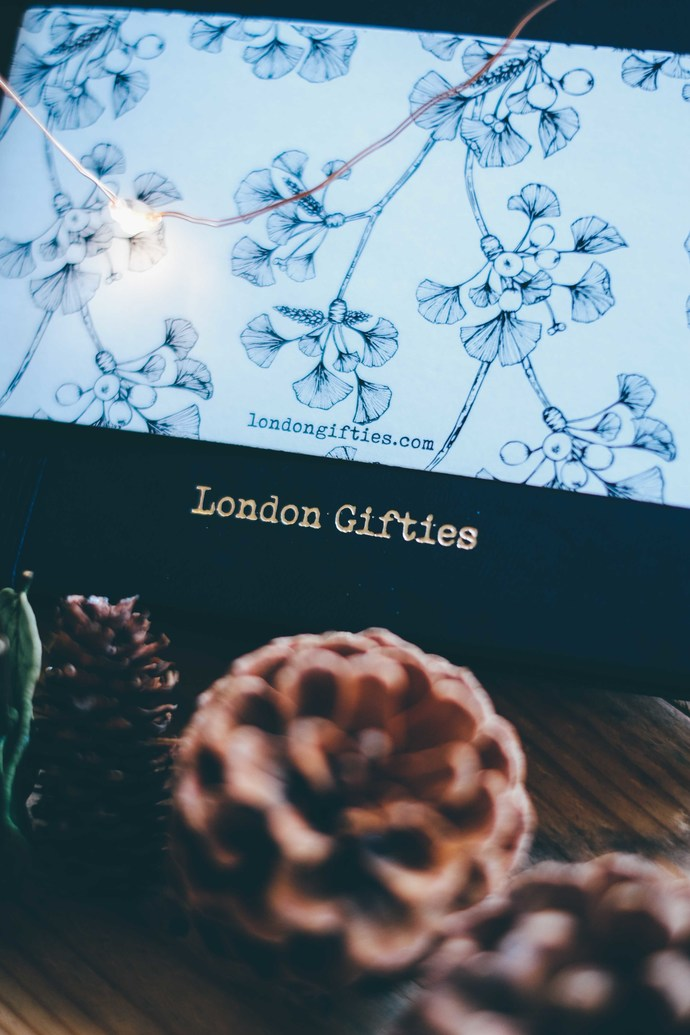 London Gifties Ginkgo Journal - A5 size in Black - dotted notebook 160gsm thick