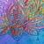 Original Lotus Art by Rebecca Beal Acrylic Mixed Media Painting Abstract Art