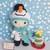 Felton in Snowman Costume - Crochet Amigurumi Pattern- PDF