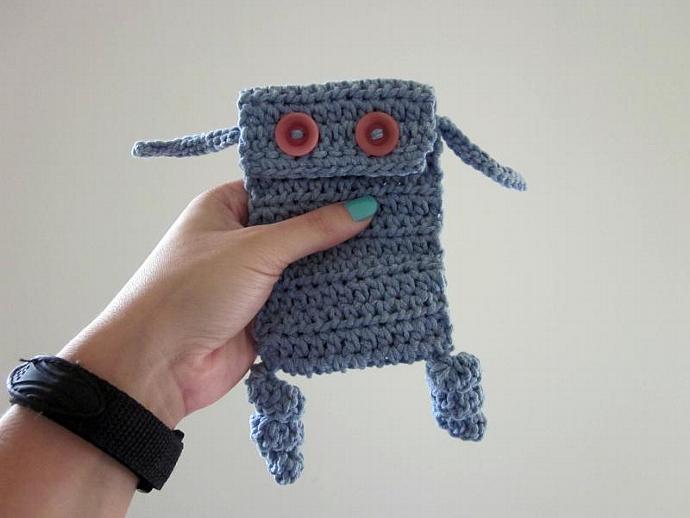 Little Monster Blue Cell Phone/iPod Case