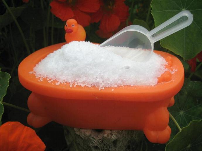 Creamsicle Sea Salt Bath Soak, Vanilla, Mandarin orange