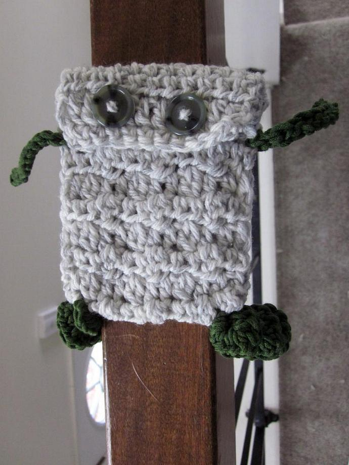 Little Monster White/Gray and Green Cell Phone/iPod Case