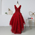Cute Wine Red Tulle with Flower Lace Applique Flower Girl Dress, Lovely Flower
