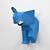DIY Elephant wall trophy,lowpoly elephant,papercraft elephant,elephant