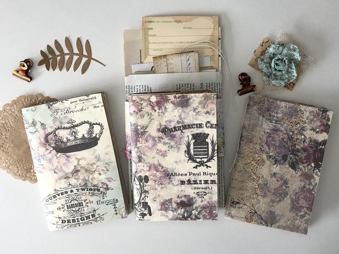 Blank TN Inserts Passport set of 3 / Field Note Size - with Ephemera packs #5