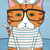The Little Ginger Sailor Cat Original Cat Folk Art Painting