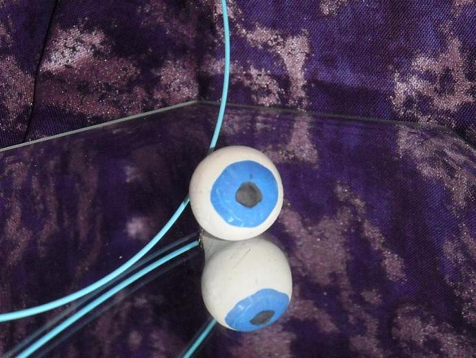 OOAK Sculpted severed eyeball necklace