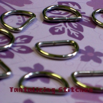 15 Unwelded D Rings - 15 mm for bags and other sew