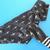 LARGE Skull Dagger Silver Foil Cotton Knit Dog Hoodie