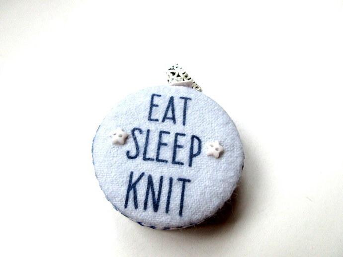 Tape Measure Eat Sleep Knit Small Retractable Measuring Tape