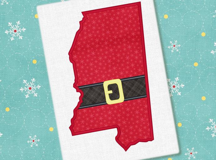 Mississippi Christmas Applique Design Christmas Design Mississippi Embroidery