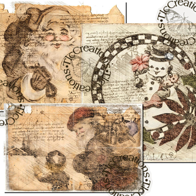 Winter Engineer Style Printable Journal Cards Journal Papers Vintage Papers