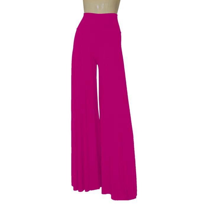 Hot Pink Palazzo Pants Evening Trousers High Waist Pants Extra Wide Leg Pants