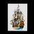 vintage postcard, Dutch ship De Zeven Provincien