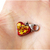 Heartbreaker Red Heart Resin Charm with Gold Flakes, Valentines Day, Christmas,