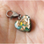 Team Raphael Green Heart Charm with Rose Gold flakes, Christmas, Zipper Pulls,