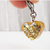 Bast Gold Flake Resin Heart Charm, Handmade Accessories, Pet Jewelry, Charms for