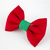 Under the Mistletoe Bow Tie for Cats, Deep Red, Green, Christmas Pet