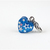 Superstar Blue Glitter Resin Heart Charm with Clip, Zipper Pulls, Pet Accessory,