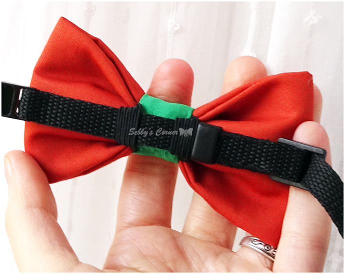 Pumpkin Spice Bow Tie for Dogs, Cat Accessories, Pet Photo Props, Orange, Green