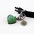 Artemis Green Holographic Heart Charm with Clip, Resin Charms, Cat Collar
