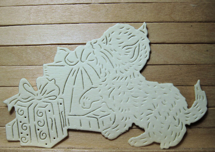 Cute Kitten and Presents Metal Cutting Die