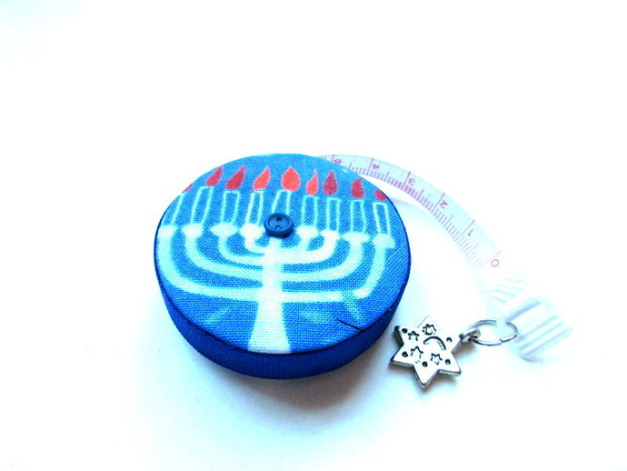 Tape MeasureHanukkah Menorah Small Retractable Measuring Tape