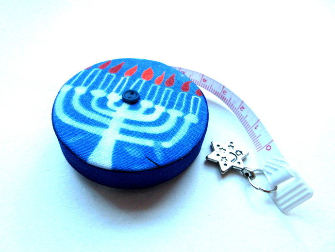 Tape MeasureHanukkah Menorah Small Retractable Measuring Tape