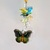 Crystal Cluster Suncatcher Butterfly Charm