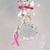 Crystal Cluster Suncatcher Breast Cancer Awareness Pink Ribbon