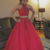 Red Prom Dress,A-Line Prom Gown, Two Pieces Prom Dress, Appliques Prom Gown 9982