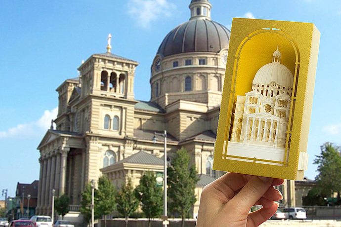 USA Milwaukee The Basilica of St. Josaphat. Religious Gift Architecture paper