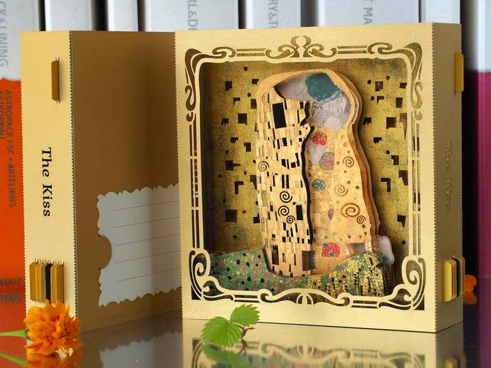 Wedding invitations Gustav Klimt Art Kiss. Pop up cards. Marriage invites. Save