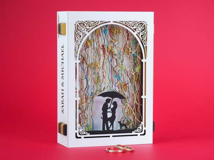 Wedding invitations Exclusive Custom Design invites pop-up invites laser cut 3d